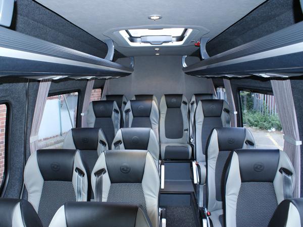 16 seater interior.